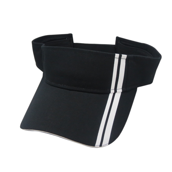 SUN VISOR WITH TWO STRIPES