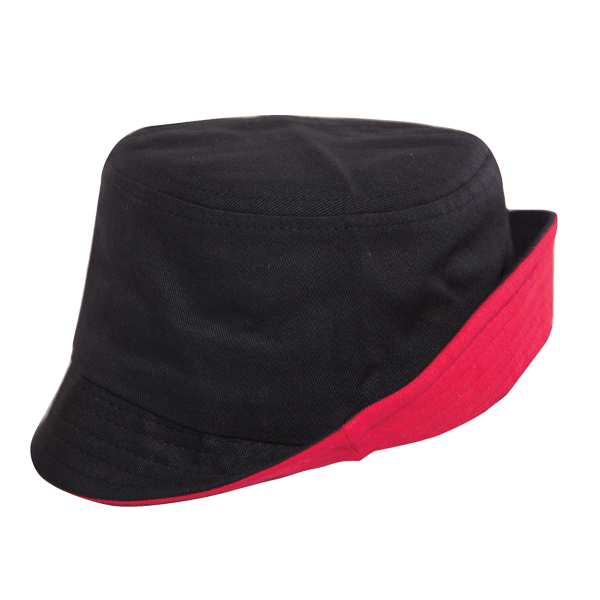 BUCKET HAT WITH TWO TONE BRIM